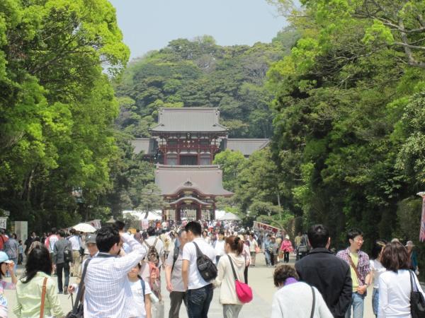 鶴岡八幡宮本宮の遠景