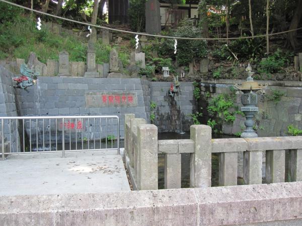 目黒不動尊の独鈷の滝