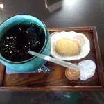 白河小峰城の茶屋のお茶