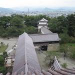 鶴ヶ城天守閣内部から外の風景