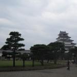 鶴ヶ城の天守閣と本丸跡