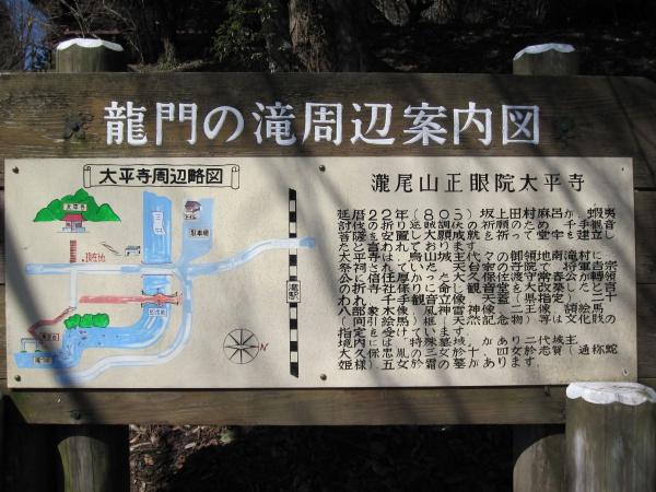 龍門の滝周辺図