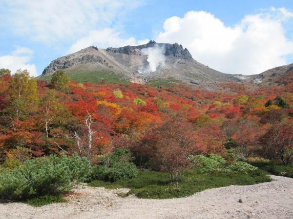 那須岳の姥が平