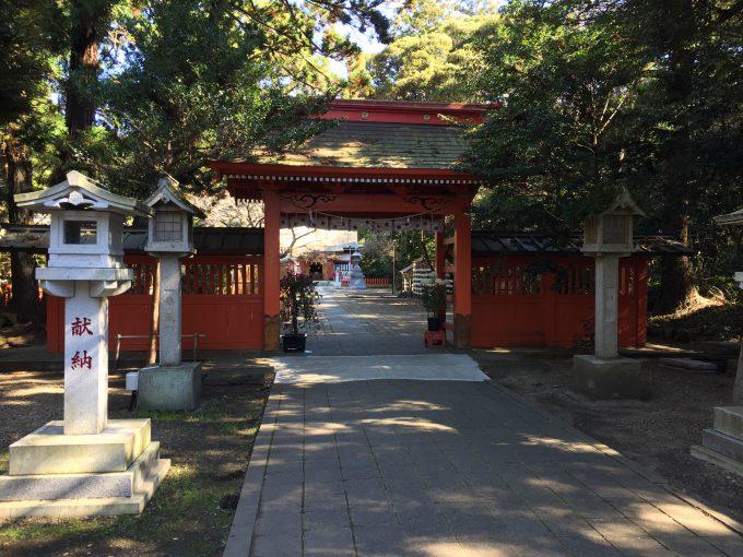 息栖神社の神門
