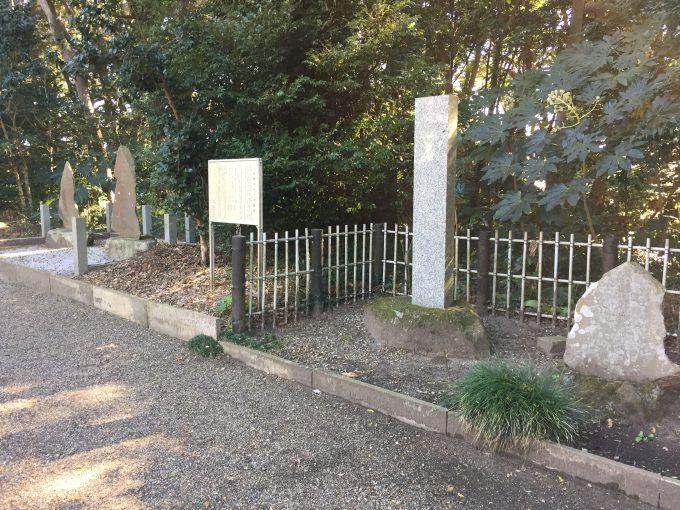 息栖神社の息栖ゆかりの歌碑
