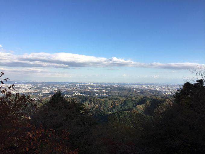 高尾山薬王院からの遠景