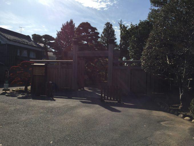 旧堀田邸の入り口
