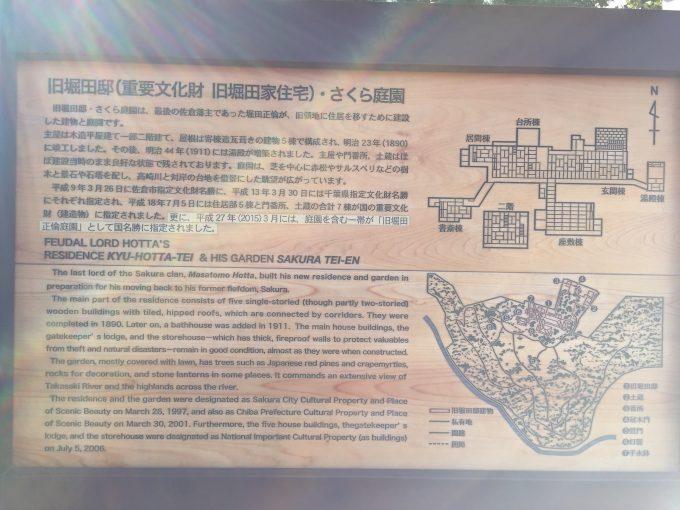 旧堀田邸の案内板