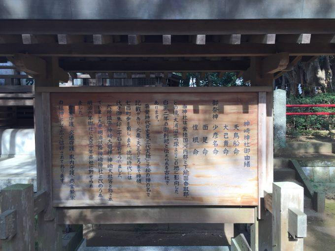 神崎神社(こうざきじんじゃ)由緒版