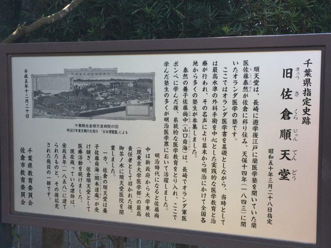 佐倉順天堂記念館の案内板