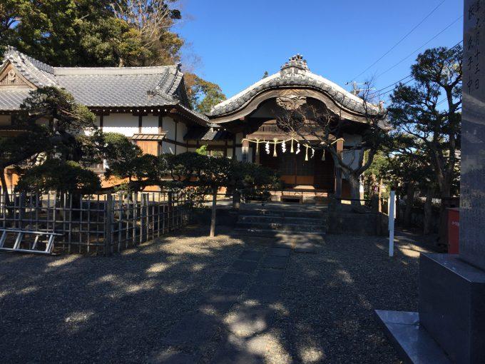 玉前神社の斎館