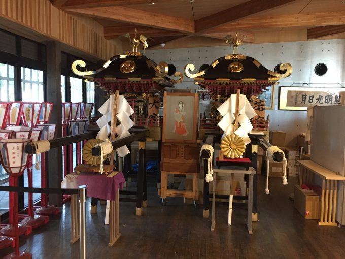 玉前神社の参集殿内部