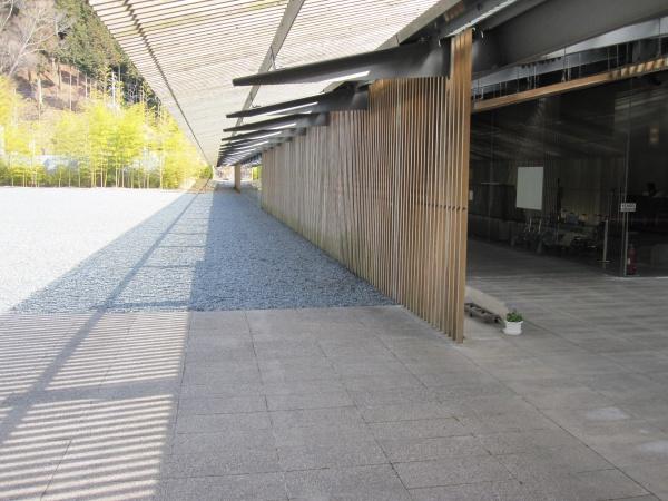 那珂川町馬頭広重美術館の入り口付近