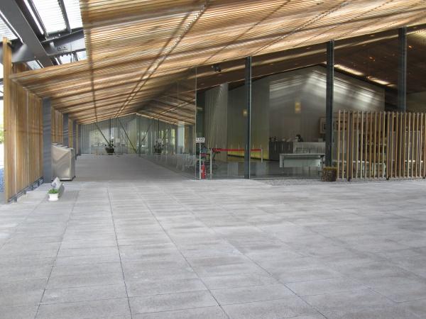 那珂川町馬頭広重美術館の入り口