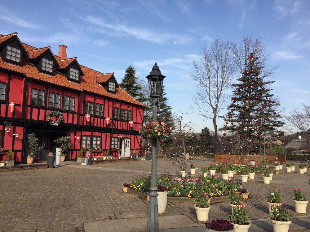アンデルセン公園の北欧っぽい建物